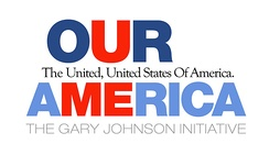 Logo of the Our America Initiative, which Johnson founded in 2009