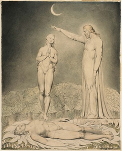 The Creation of Eve, William Blake (1808)
