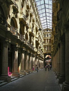 Interior Lodares Passage, historical modernist gallery of the first quarter of the twentieth century.