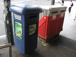 Since the deregulation of the postal sector, different postal operators can install mail collection boxes in New Zealand's streets.