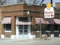The historic office of the Omaha Star, an African American newspaper.