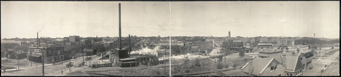 Downtown Sioux Falls in 1908, looking west.