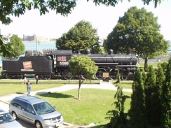 CN 5588 Spirit of Windsor on display at the Windsor, Ontario, riverfront