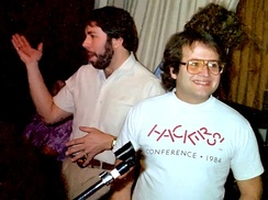 Steve Wozniak and Andy Hertzfeld in 1985