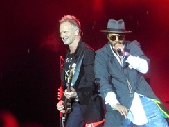 Sting and Shaggy on tour