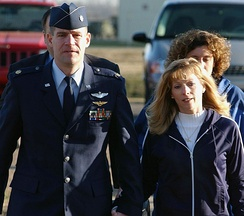 U.S. Air National Guard Major Harry Schmidt before a hearing