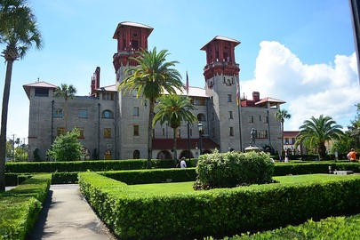 The former Hotel Alcazar now houses the Lightner Museum and City Hall