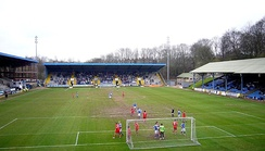 The Shay, the town's football and rugby league stadium.