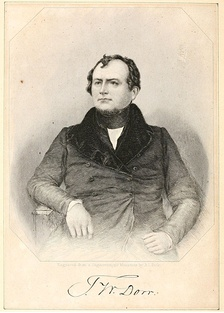 Thomas W. Dorr from an 1844 book's frontispiece