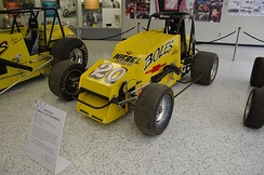 "Tony Stewart's 1995 Sprint Car Championship car, part of his ""Triple Crown"" accomplishment."