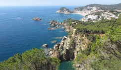 The coastal Mediterranean region of Costa Brava in northeastern Spain