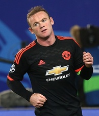 Rooney playing for Manchester United in a UEFA Champions League match against CSKA Moscow in Russia, 21 October 2015