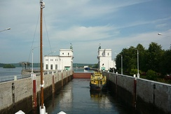 Lock at the Upper Svir Hydroelectric Station.