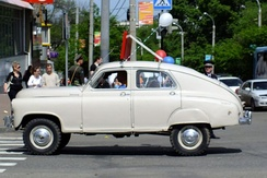 The GAZ M-72 was the world's first series-produced monocoque four-wheel drive (1955).