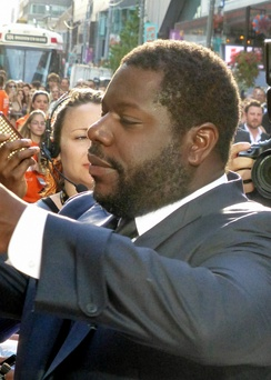 McQueen at the premiere of 12 Years a Slave at the 2013 Toronto Film Festival