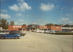 Marsh store in the Nora district of Indianapolis during the late 1980s or early 1990s. It was one of the stores that had closed on April 8, 2017.