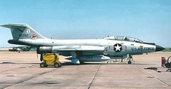 136th FIS F-101F 58-0262 about 1975