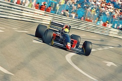 Andrea Chiesa driving the GR01 during the Thursday practice session for the 1992 Monaco Grand Prix.