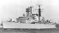 The Argentine destroyer ARA Santísima Trinidad landed Special Forces south of Stanley