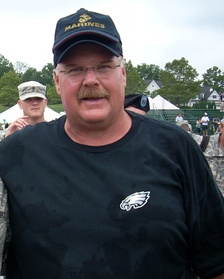 Andy Reid (pictured in 2010), began his first season as the Chiefs' head coach in 2013