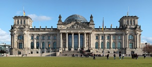 German unity was established on 3 October 1990.[84] Since 1999, the Reichstag building in Berlin has been the meeting place of the Bundestag, the German parliament.