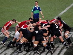 The British and Irish Lions against New Zealand in 2005