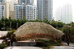Bamboo pavilion in the Shenzhen Biennale