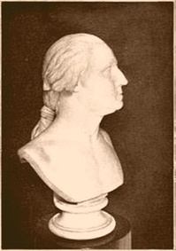 Bust of Washingtonby Jean Antoine HoudonThis sculpture served as the model for Washington engravings on a variety of postage issues of the late 19th century