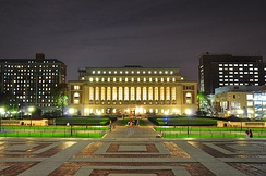 Butler Library at Columbia University, described as one of the most beautiful college libraries in the United States.[377]