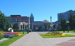 Civic Center Park: with museums and the central library in background