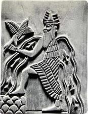 Бог Энки— оттиск с древней печати