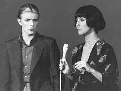 Bowie performing with Cher on the variety show Cher, 1975