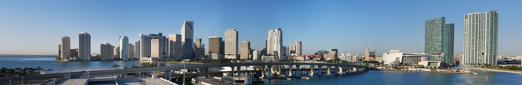 Downtown as seen from the Port of Miami