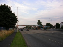 "A section of the ""East Lancs Road"" at Wardley in the City of Salford."