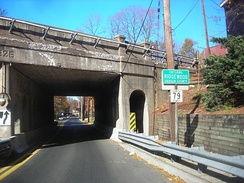 Entering Ridgewood along County Route 79