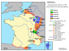 France expansion, 1552 to 1798