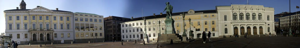 View over Gustav Adolfs torg, square named after Gustavus Adolphus, the founding father of Gothenburg