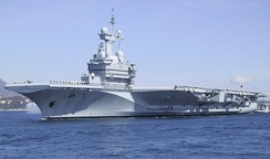 Charles de Gaulle, a French aircraft carrier