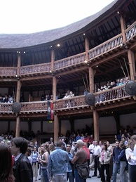 The modern reconstruction of the Globe Theatre, in London.