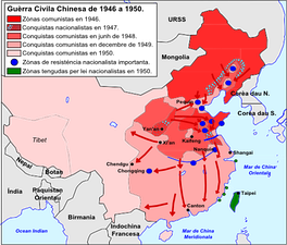 Map of the Chinese Civil War (1946–1950)