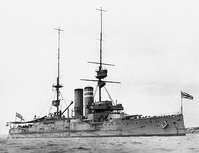 HMS Dominion of the King Edward VII-class was launched towards the end of the pre-dreadnought era, in 1903