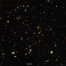 The deepest visible-light image of the universe, the Hubble Ultra Deep Field