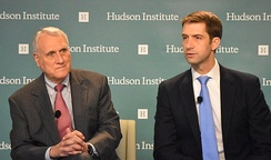 Kyl and Senator Tom Cotton speaking at the Hudson Institute