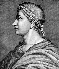 Ovid with laurel wreath, common in poets