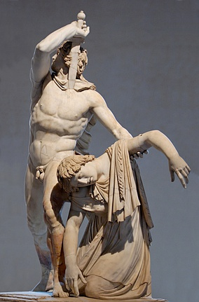 The Ludovisi Gaul, Roman copy of a Hellenistic sculpture of a dying Celtic couple, Palazzo Massimo alle Terme.