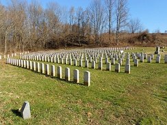 The Soldiers' Lot contains the graves of 404 Union Soldiers and 2 Confederate Soldiers