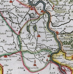 The County of Moers in 1635