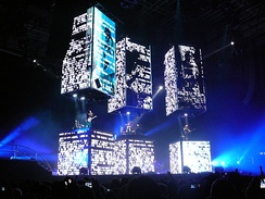 "Muse performing ""Resistance"" at the National Indoor Arena, Birmingham, England on 10 November 2009."