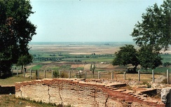The Plain of Myzeqe seen from the ancient city of Apollonia.
