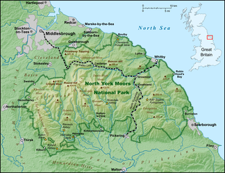 Map of the North York Moors